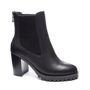Chinese Laundry Jersey Boot Black Leather
